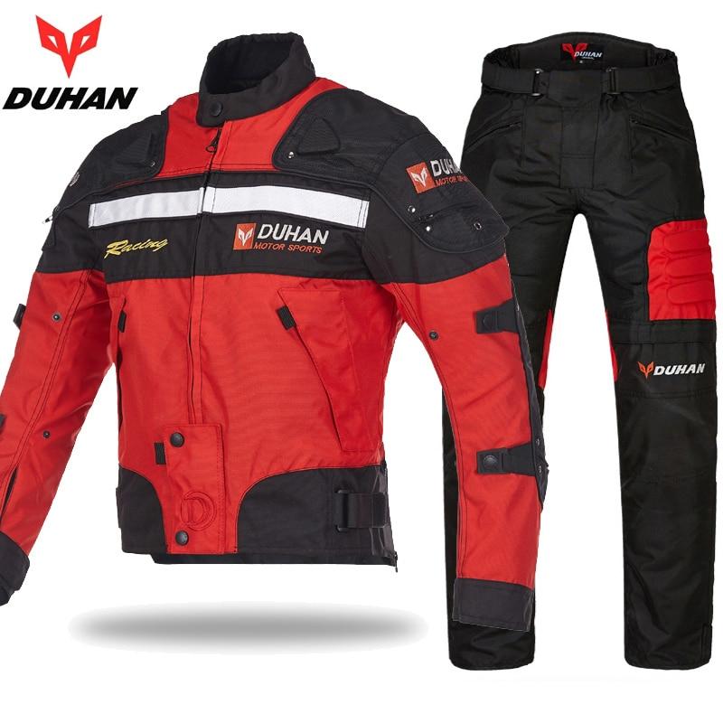 Original DUHAN Motorcycle Protective GearJackets Racing pants suits 600D Oxford Moto Clothing jacket pants