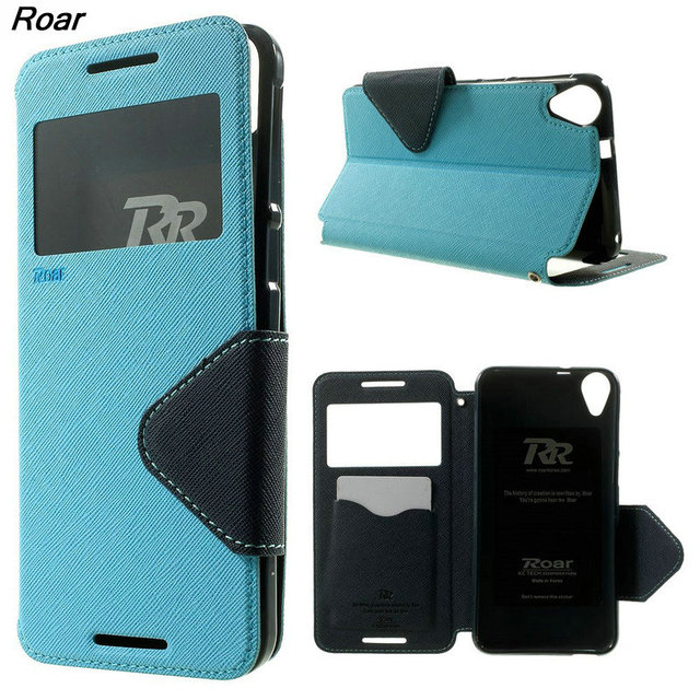 innovative design 8feb9 97a5c US $8.36 10% OFF|For HTC Desire 820 Case Original ROAR KOREA View Window  Leather Mobile Phone Case Flip Cover for HTC Desire 820 / 820 Dual SIM-in  ...