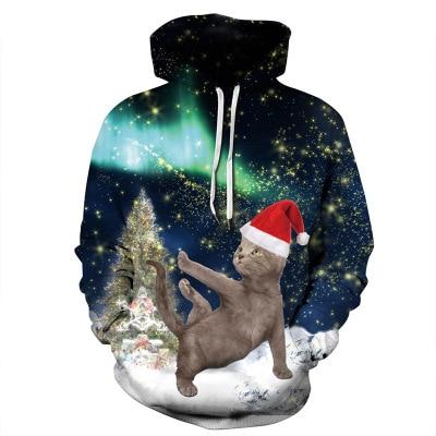 New Digital Printing Christmas Hoodies Men/Women 3d Sweatshirts Print Multi Cats Hooded Hoodies streetwear harajuku