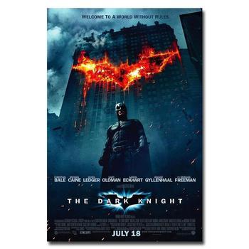 Плакат гобелен шелковый постер Бэтмен