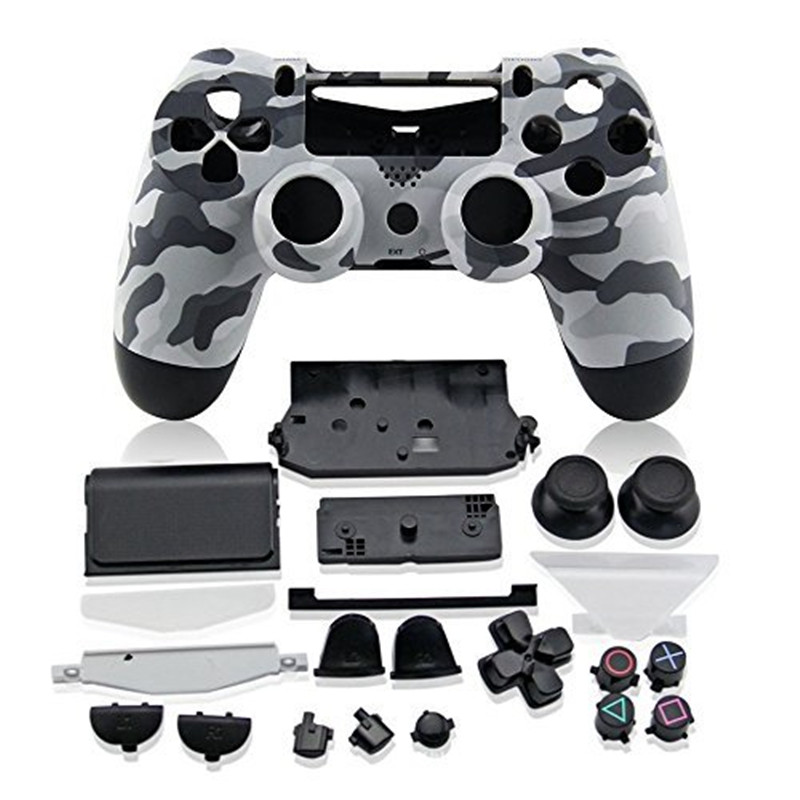 <font><b>PS4</b></font> Full Housing <font><b>Controller</b></font> Shell <font><b>Case</b></font> Cover Mod Kit buttons For Playstation 4 Dualshock 4 PS 4 V1 Replacement Camouflage Camo image