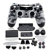 Capa de controle de carcaça para ps4  kit de botões de substituição para playstation 4  dualshock  4 ps  4 v1 camo camo