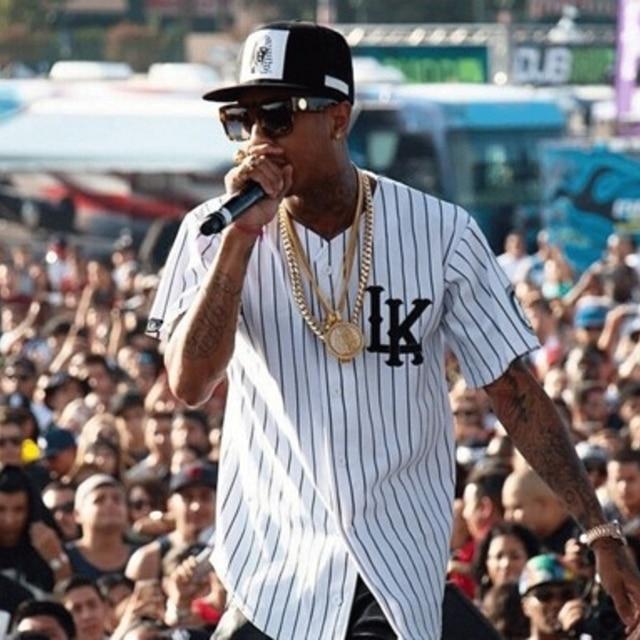 Last Kings Kingin Baseball Jersey Tyga Fashion Shirt White In T