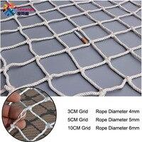 3/5/10 Cm Grid Nylon Veiligheid Netting Trap Balkon Veiligheid Bescherming Hek Kids Peuter Veilig Dek Anti vallen Net Custom Made