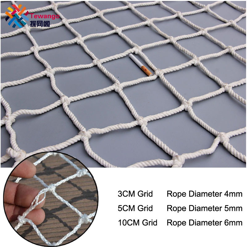 3/5/10cm Grid Nylon Safety Netting Stair Balcony Safety Protection Fence Kids Toddler Safe Deck Anti Falling Net Custom made