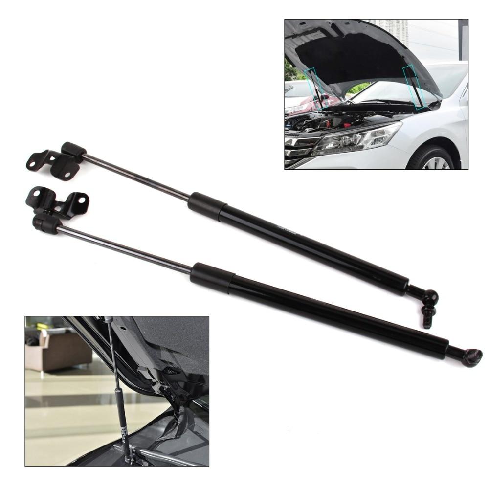 Beler 2x car black silver metal front hood lid lift support damper shock strut fit
