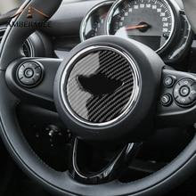AMBERMILE салона углеродного волокна руль наклейки украшения для Mini Cooper F55 F56 F60 JCW аксессуары для укладки