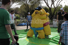 Superheros sumo wrestling suits, inflatable Entertainment Sumo Suits for sale