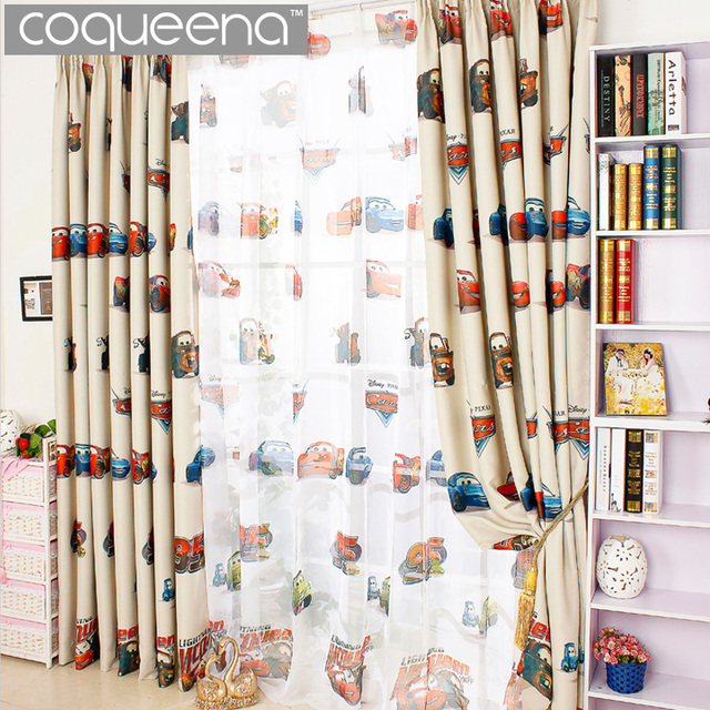 Curtains For Kids Room: Cartoon Car Curtains For Living Room Boys Bedroom Kids