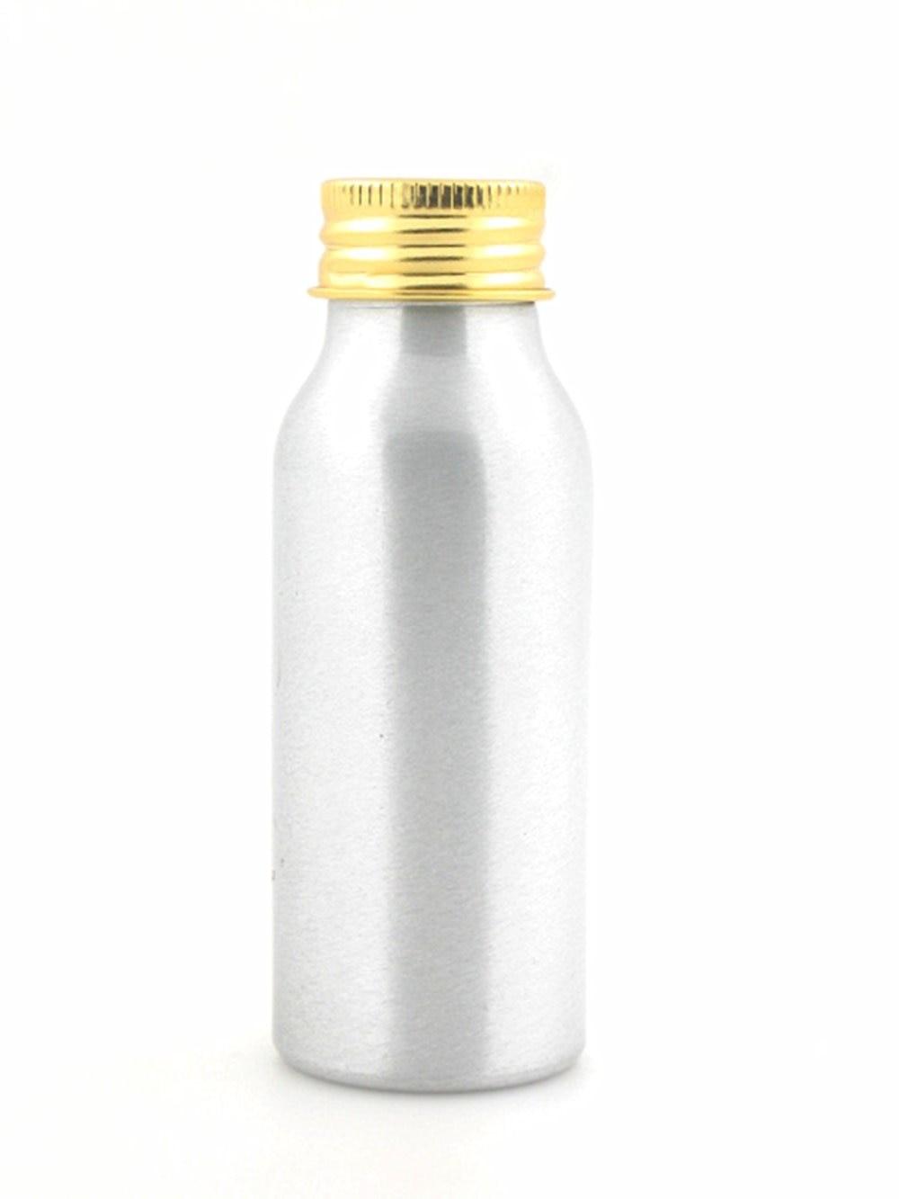 50ml Empty Aluminum Bottles, Sliver Metal Bottle With Gold/silver Lined Aluminum Lid
