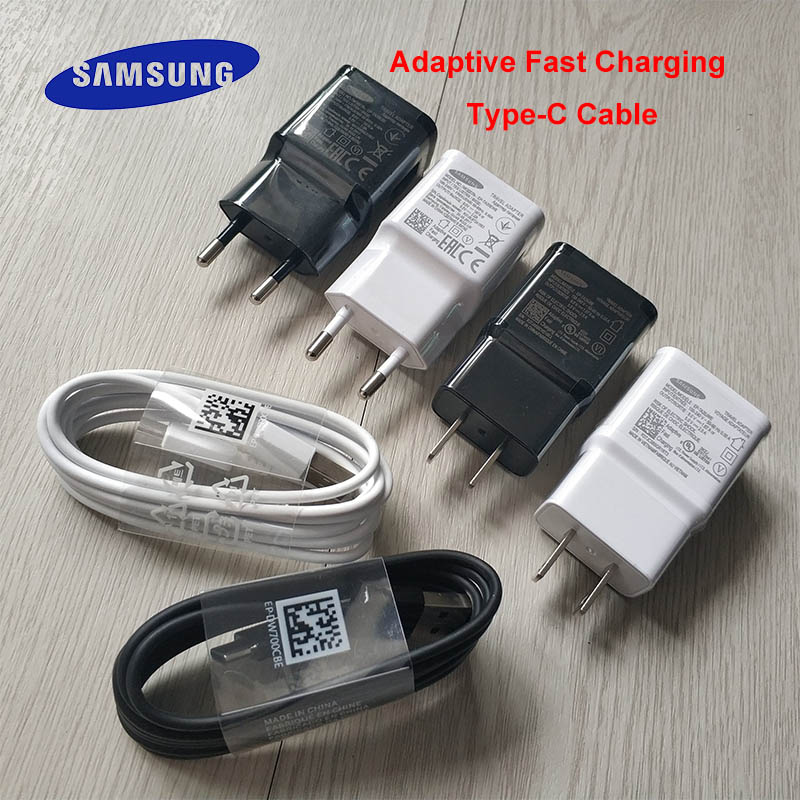 Samsung Adapter Type-C-Cable Fast-Charger Us-Plug 9V1.67A S9 Plus Galaxy S10 Original