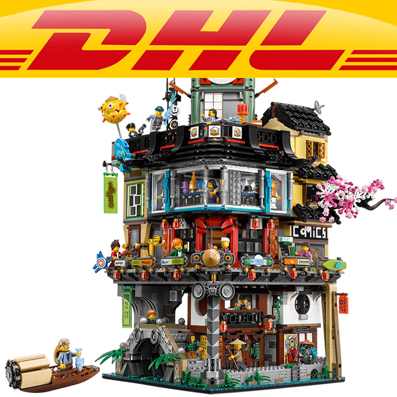 LEPIN 06066 4953pcs Ninja City Construction Masters of Spinjitzu Building Blocks Bricks Toys For Children compatible 70620 2018 new 4953pcs ninja masters of spinjitzu city construction model building blocks bricks 70620 compatible legoes gift kid toys