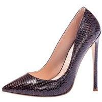 Mavirs Cool Sexy Serpentine Shoes Woman Wedding High Heels 12cm Sexy Pointed Toe Pumps Fashion Luxury
