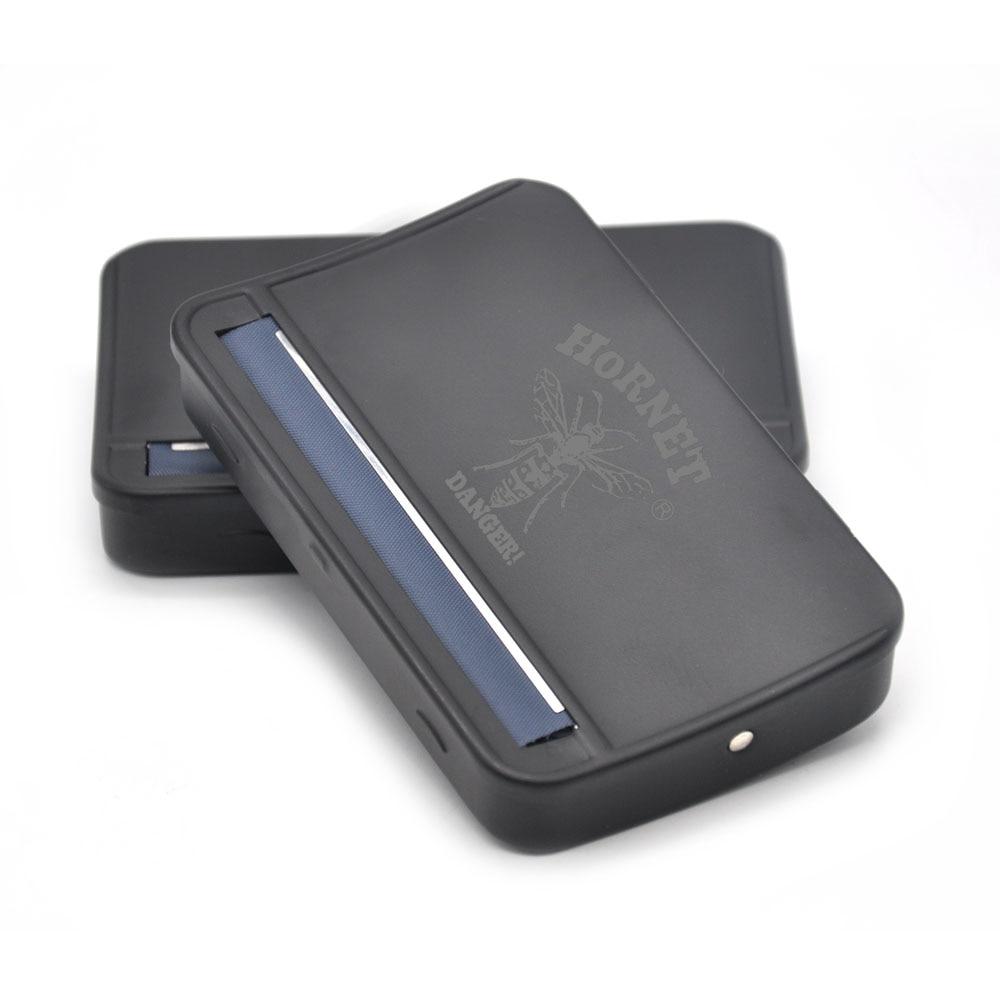 [HORNET] Բարձր քանակությամբ 110 Մմ սև մետաղական շարժակազմերի մեքենա տուփի շարժակազմերի տուփ 110 մմ թղթի համար Handroller Սիգարետ արտադրող