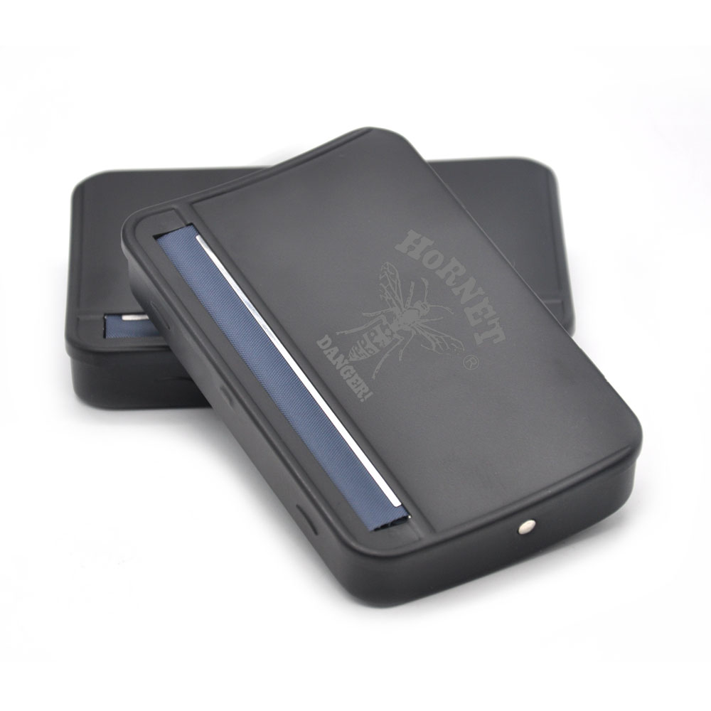 [HORNET] High Quatity 110MM Black Metal Rolling Machine Case Rolling Machine Box för 110mm papper Handroller Cigarett Maker