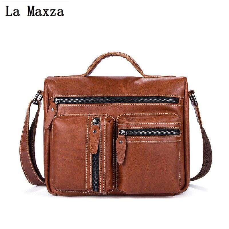 Кожа Для мужчин большой емкости Для мужчин одного плеча портфель сечение ретро сумки LJX-129