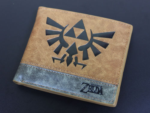 Nintendo Game Zelda Bifold Wallet Leather PU Coin Purse Zelda Skyward Sword Men Wallets anime cartoon wallets bifold game pokemon go pikachu wallet for teenager women men pocket monster purse coin purses holders