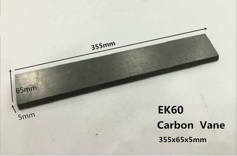 355x65x5mm Carbon graphite vane for Becker Vacuum Pumps DTLF / VTLF 250/360   /Carbon-graphite end plates 6 48 230 mm carbon vane for vacuum pump graphite plate block for vacuum pump becker