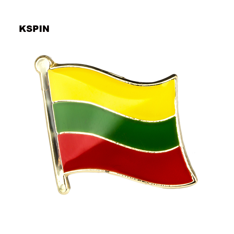 Lithuania flag lapel pin badge pin 300pcs a lot Brooch Icons KS 0103