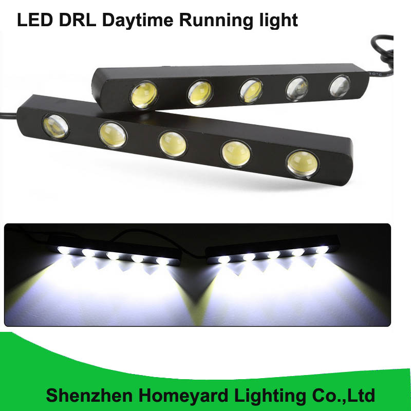 2pcs eagle eye lamp led drl daytime running light white color 5W 14CM aluminium base led strip no need modify for all car 1 pair 14 led strip flexible snake style eagle eye car drl daytime running light driving daylight safety day fog lamp