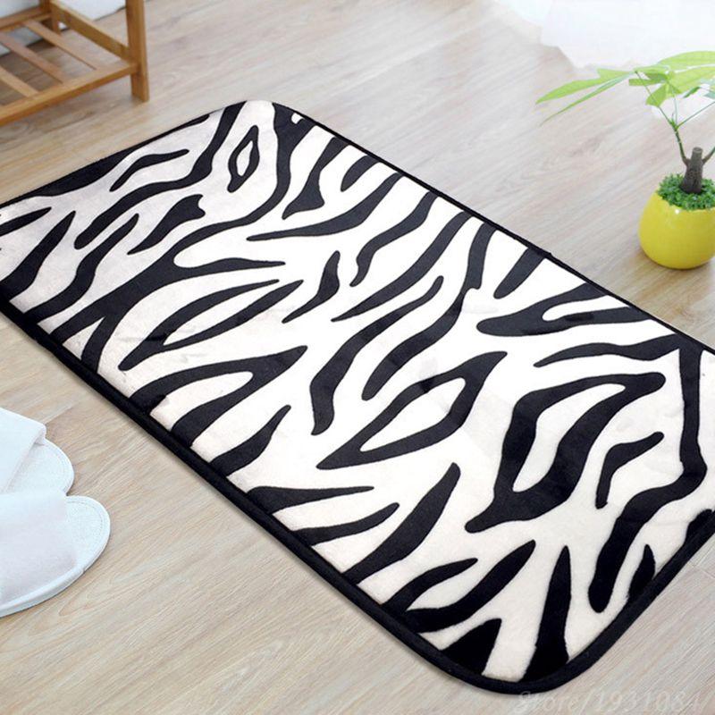 Zebra/Leopard Carpet For Living Room Rectangle Rug Doormat Kitchen Bathroom  Door 40*60cm/50*80cm/40*120cm Home Decoration