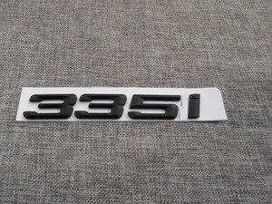 Matte Black ABS Number Letters Word Car Trunk Badge Emblem Letter Decal Sticker for BMW 3 Series 335i