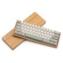 Caixa de bambu para personalizado 60% gh60 dz60 teclado mecânico