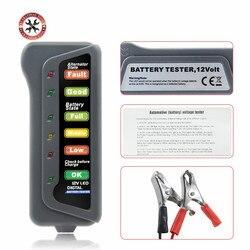 Brake Fluid Tester 12V Auto Car Digital Battery Tester Alternator 6 LED Light for Cars Vehicle 12V Car Battery-Tester