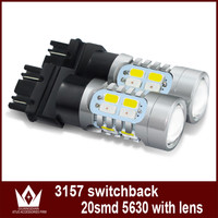 Tcart 2 teile/los T25 3157 5730 20SMD Weiß/Gelb Dual Color Switch LED Blinker