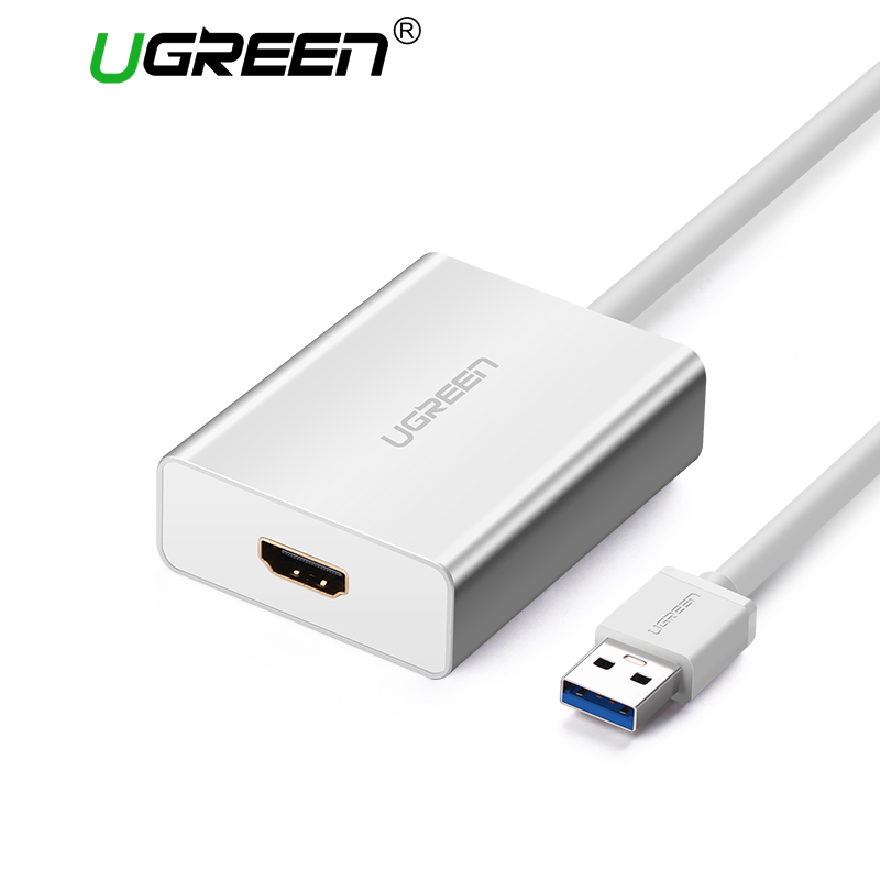 Ugreen USB HDMI VGA DVI Adapter External USB to HDMI Multi-Display Adapter Male to Female Projector Connector Converter USB HDMI xmas dvi d male to vga female adapter converter connector for lcd hdtv
