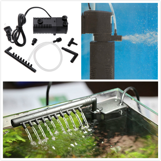 3w ultra quiet aquarium filters fish tank oxygen air pump for Air pump for fish tank