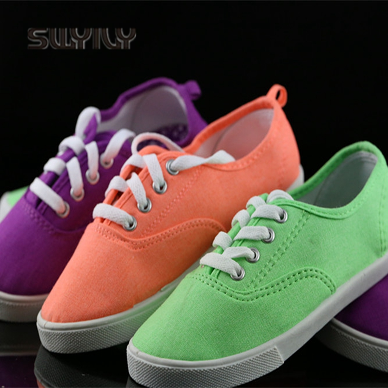 SWYIVY Women' S Sneakers Canvas Shoes Candy Color Flat 2018 Girl Casual Shoes Breathable Student Leisure Shoes Women's Sneakers swyivy women sneakers light weight 2018 41 woman casual shoes slip on lazy shoes comfortable candy color breathable net shoe
