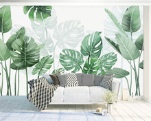 beibehang Customized modern minimalist small fresh watercolor plant wall papers home decor stereo papel de parede 3d wallpaper