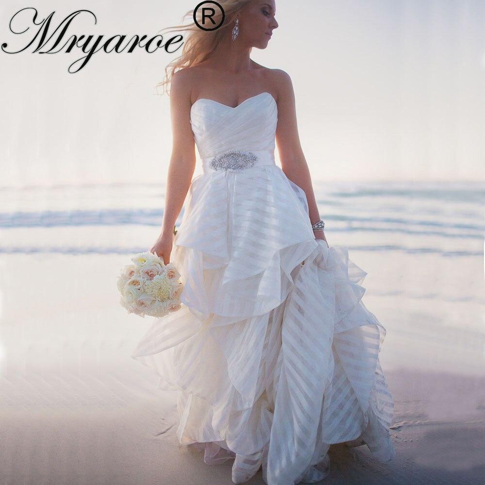 Jeweled Wedding Gowns: Mryarce Fashion Wedding Gown 2019 Striped Beach Wedding