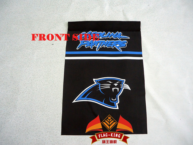 Carolina Panthers garden flag 3045 CM size280gm2 fabric double