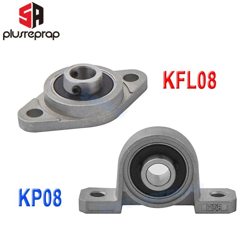 2PCS KFL08 KP08 8mm Bore Diameter Pillow Block Flange Rhombic Bearing Zinc Alloy 3D Printer DIY Parts For T8 Lead Screw