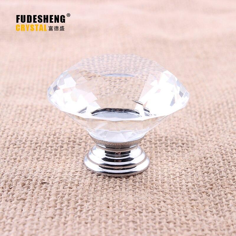 Modern Diamond 50mm*40mm Crystal Pull Handle Knob Drawer Cabinet Cupboard Pull Furniture Hardware Handle Door Pull цена