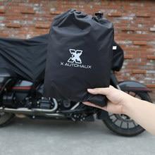 Protetor universal para motocicleta, x autohaux m g xl meia capa 210t à prova d'água e poeira, para áreas externas, proteção uv para motocicleta bicicleta bicicleta
