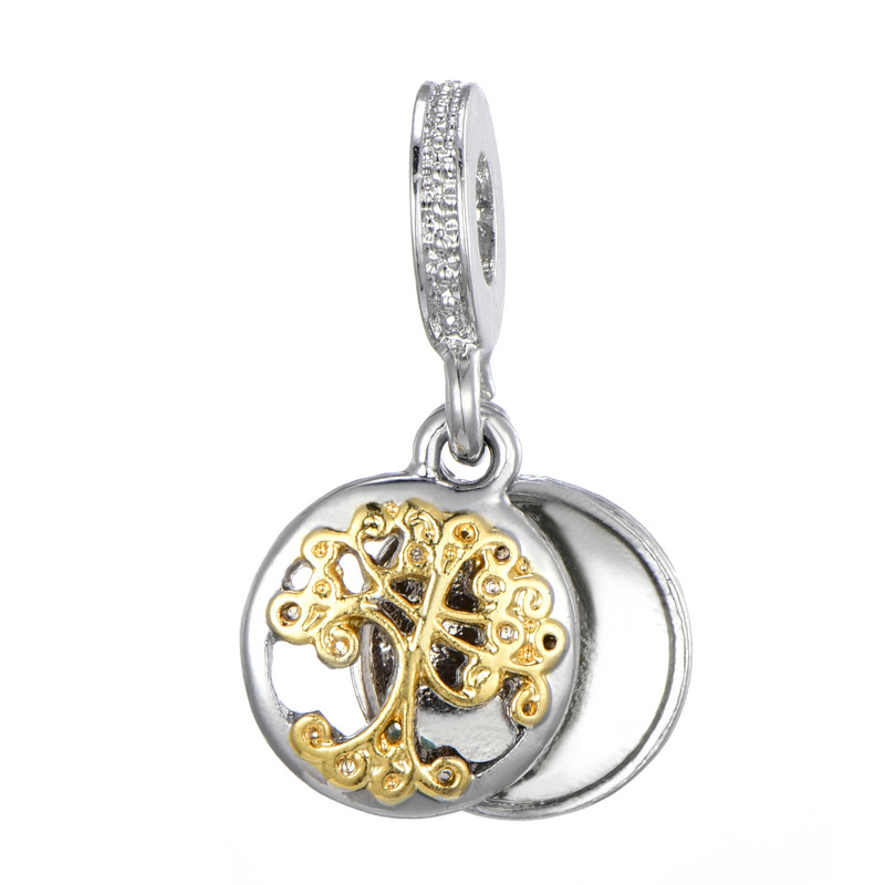 Tree Of Life Silver Necklace Pendant European Charm fits charm bracelet