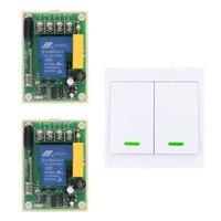 AC 220V 30A Relay 1 CH 1CH RF Wireless Remote Control Switch System 2CH Wall Panel