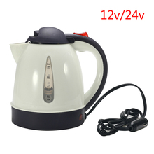 12V/24V 1000ML Car Hot Kettle Portable Water Heater Travel Auto for Tea Coffee 304 Stainless Large Capacity Vehicle Heating Cup