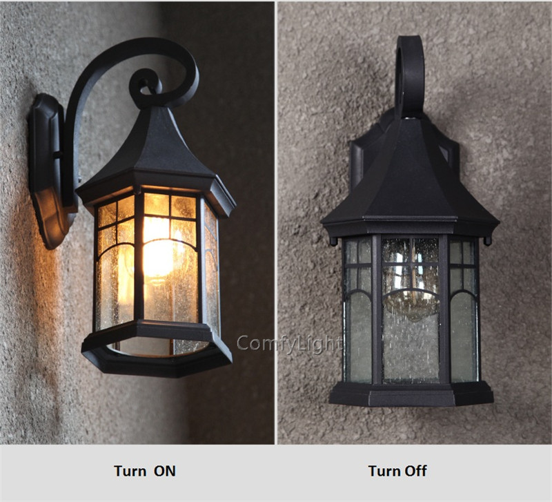Sconce da lâmpada de vidro do vintage
