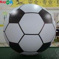 Sayok 1.5m/2m Giant Inflatable Football Model PVC Balloon Helium Soccer Ball for Fun Beach Pool Sports Advertising Decoration