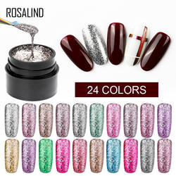 Розалинд блестящие гель-блеск ногтей для маникюра поли UV гель Цвета первоклассника базовый набор гель Гибридный лак гель лак для ногтей