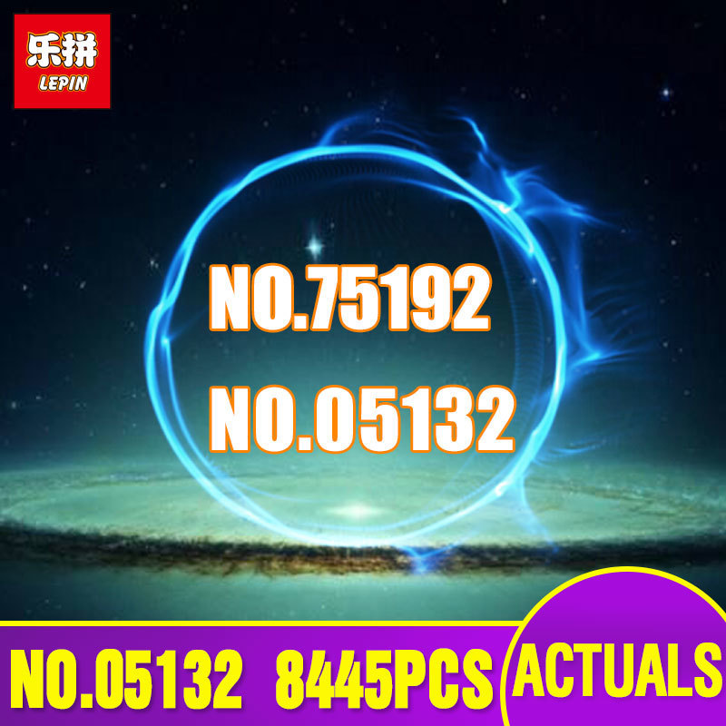 LEPIN 05132 8445Pcs Ultimate Collector's Destroyer Star Series Wars Building Blocks Bricks toys for Children chirsmas gift 75192 lepin 05132 star series wars new ultimate collector s model destroyer building blocks bricks children toys 8445pcs gifts 75192