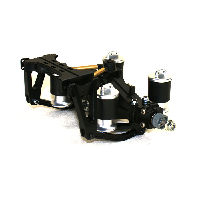 1Set 1/14 Truck Airbag Suspension Kit X-8004 X-8005 Large Stroke Suspension Anti-collision System for 1:14 Tamiya Tractor RC Car