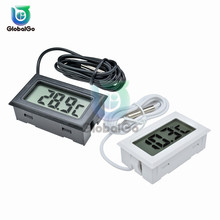 LCD Digital Thermometer Thermograph Temp Temperature Sensor Meter Refrigerator -50~110 Degree Fridge Electronic
