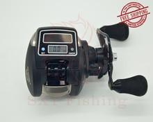 FREE SHIPPING OFB500 Electronic counting Fishing reel digital display fishing reel Low-Profile Reel Fishing force 6kg lure reel