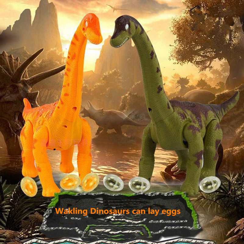 Creative Toys Simulation Electric Dinosaur lay Egg 6626 Projection function sound light walking Dinosaur Tanystropheus model