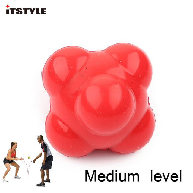 ITSTYLE Silicone Hexagonal Ball Solid Fitness Agility Coordination Reflex Exercise Workout equipment Training Reaction Ball